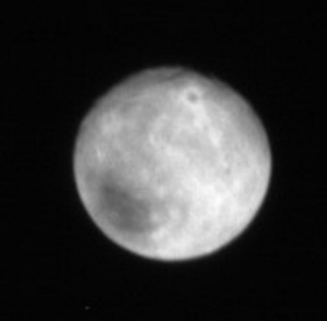 pluto w large crater