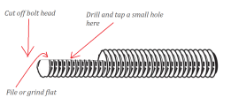 Cut off the head, use a grinder or saw to make a flat area (or else you can split the screw down the middle)