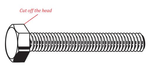 Begin with a machine screw (bolt)
