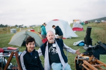 Oscar Olmedo and me at our campsite