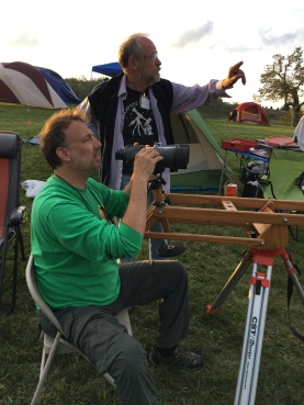 Mike Laugherty and me fiddling with binocular mount